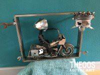 3D schilderij motorrijder