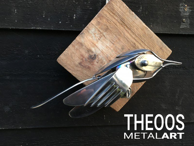 Diverse vogeltjes op houten achtergrond | Foto #47