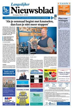 Theoos Metalart in Langedijker Nieuwsblad van Rodi Media, juli 2020